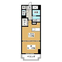 アビタシオン オンズアン[2階]の間取り
