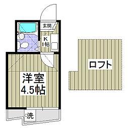 セドルハイム上福岡(ふじみ野)[205号室]の間取り