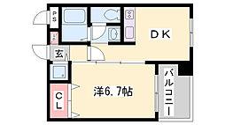 ラフォーレ湊川[3階]の間取り