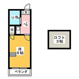 スプリングシールド[2階]の間取り