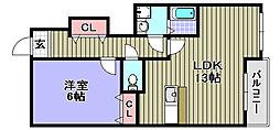 ミゾノカワB棟[103号室]の間取り