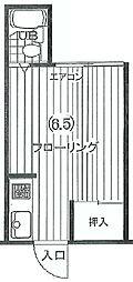 東京都杉並区和田2丁目の賃貸アパートの間取り