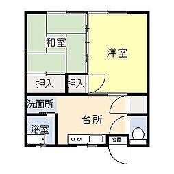 鳥原アパート[2階]の間取り