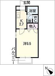 サン・マツモト A棟[2階]の間取り