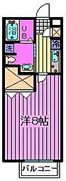 埼玉県さいたま市浦和区上木崎1丁目の賃貸アパートの間取り