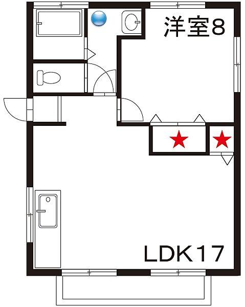 コーポハラダ[2階]の間取り