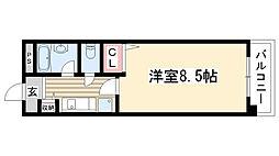 ハイネス修芳[305号室]の間取り