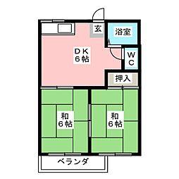 ハミングONE[2階]の間取り