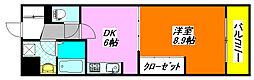 布施・ハイライン 603号室[6階]の間取り
