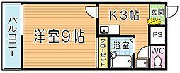 レオネクストサンライズ小熊野[3階]の間取り