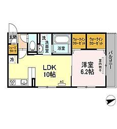 (仮)D-room 住吉 II[3階]の間取り