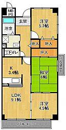 メゾン・ドール宝塚[401号室]の間取り