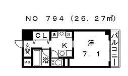 ADORER (アドレ)[6階]の間取り