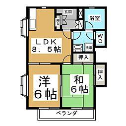 壱清館[1階]の間取り