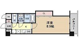 Luxe山科(ラグゼ山科) 6階1Kの間取り