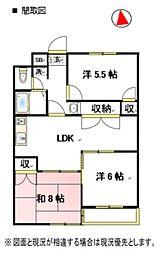 ファインクロス6番館[3階]の間取り
