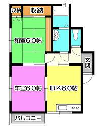 埼玉県所沢市星の宮1丁目の賃貸アパートの間取り