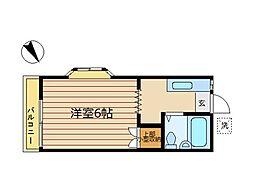 東京都世田谷区野沢4丁目の賃貸アパートの間取り