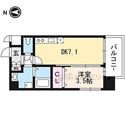 JR東海道・山陽本線 岸辺駅 徒歩4分の賃貸マンション 9階1DKの間取り