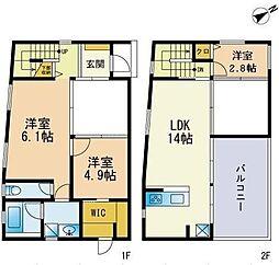[テラスハウス] 福岡県大野城市筒井1丁目 の賃貸【/】の間取り