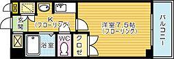 19−Cube[4階]の間取り