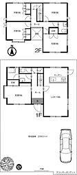 [一戸建] 東京都新宿区中落合3丁目 の賃貸【/】の間取り