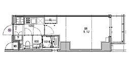 都営三田線 芝公園駅 徒歩4分の賃貸マンション 5階1Kの間取り