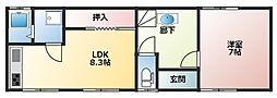 [一戸建] 兵庫県姫路市飾磨区中島2丁目 の賃貸【兵庫県 / 姫路市】の間取り