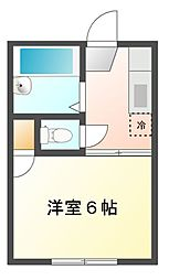 サンライズマンション[1階]の間取り