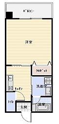 沖縄都市モノレール 市立病院前駅 徒歩10分の賃貸アパート 4階1Kの間取り