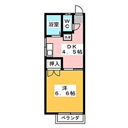 アパートメント1TF−TO城北[1階]の間取り