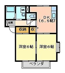 サンライフヤマセ[1階]の間取り