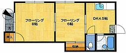 シャモニー井尻[105号室]の間取り