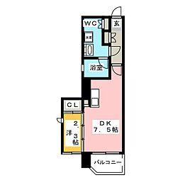 アクタス博多パークシティ[4階]の間取り