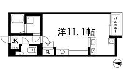 兵庫県川西市新田2丁目の賃貸アパートの間取り