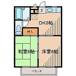 クレインSK[3階]の間取り