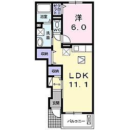 茨城県水戸市石川3丁目の賃貸アパートの間取り