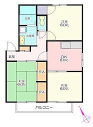 テランヴェールB[1階]の間取り