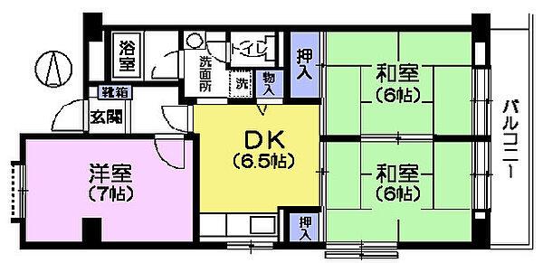 みなもとマンション[601号室]の間取り