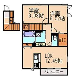 (仮)D-room阿恵II[2階]の間取り