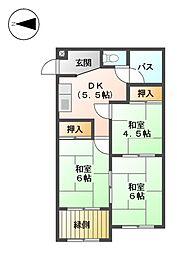 第6村上ビル[3階]の間取り