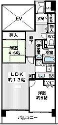 和泉中央パークホームズ[1405号室]の間取り
