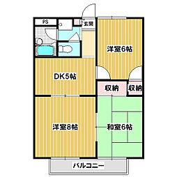 パークサイド飯島[305号室]の間取り