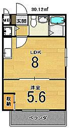 Residence西小路小米町[201号室]の間取り