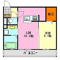 (仮)D-room大森台[202号室]の間取り