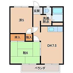 メゾン北澤[3階]の間取り