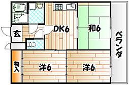 第一興産戸畑ビル[1階]の間取り
