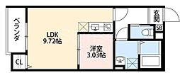 大阪府堺市西区鳳西町3丁の賃貸アパートの間取り