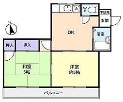 スカイコーポ[2階]の間取り