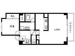 リッツ岡本[2階]の間取り
